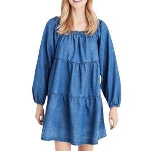 NWOT AEO Blue Jean Babydoll Dress XXL